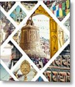 Collage Of Kathmandu  Metal Print