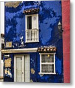Colonial Buildings In Old Cartagena Colombia Metal Print