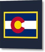 Colorado Flag Metal Print