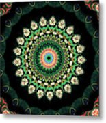 Colorful Kaleidoscope Incorporating Aspects Of Asian Architectur Metal Print