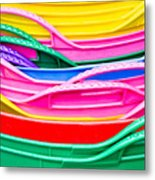 Colorful Plastic Metal Print
