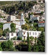 Dhermi Traditional Village View In Southern Albania Metal Print