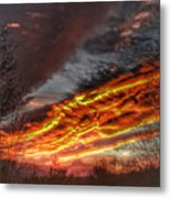Dramatic Skies Great Smoky Mountains Nc At Sunset In Winter Metal Print