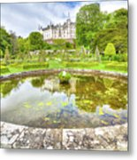 Dunrobin Castle Reflected Metal Print