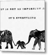 Elephant Family-black Metal Print