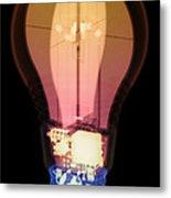 Energy Efficient Led Light, X-ray Metal Print