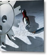 Engineering Equipment Metal Print