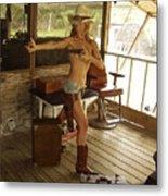 Everglades Cowgirl Metal Print