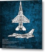 F16 Fighting Falcon Metal Print