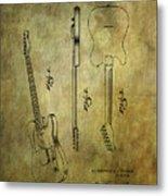 Fender Guitar Patent From 1951 Metal Print