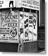 Film Homage Hard Core 1979 Porn Theater The Combat Zone Boston Massachusetts 1977 Metal Print