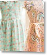 Floral Pattern Young Girl Dresses In Shop Metal Print