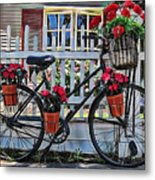 Flower Bike Collection Metal Print