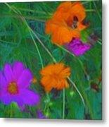 Flower Painting Metal Print
