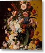 Flowers In A Glass Pitcher Metal Print