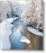 Fresh Snowfall Gauley River Metal Print