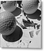 3 Golf Balls Enter Art Competition Metal Print