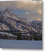 Grand Teton Winter Dawn Metal Print