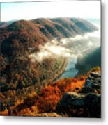 Grandview New River Gorge Metal Print