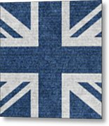 Great Britain Denim Flag Metal Print