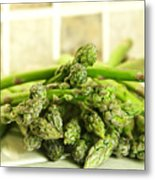 Green Asparagus Metal Print by Blink Images