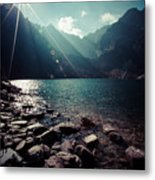 Green Water Mountain Lake Morskie Oko, Tatra Mountains, Poland Metal Print