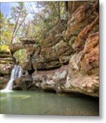 Hocking Hills Waterfall Metal Print