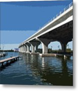 Indian River Lagoon At Vero Beach In Florida Metal Print