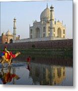 India's Taj Mahal Metal Print