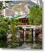 Japanese Garden In Monte Carlo Metal Print