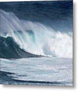 Jaws Wave Metal Print