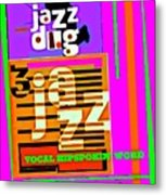 3 Jazz Internet Music Poster Metal Print