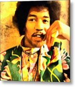 Jimmy Hendrix Metal Print