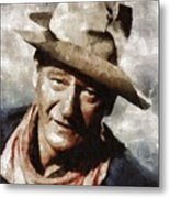 John Wayne Hollywood Actor Metal Print