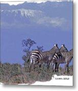Kilimanjaro Metal Print by Larry Linton