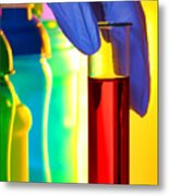Laboratory Test Tube In Science Research Lab Metal Print