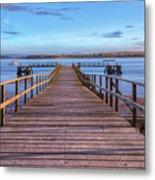 Lake Pier - England Metal Print