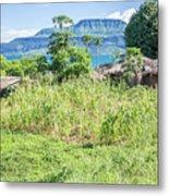 Landscape At The Lake Malawi Metal Print