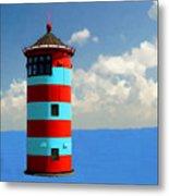 Lighthouse On The Sea Metal Print