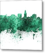 Lincoln Skyline In Watercolor Background Metal Print