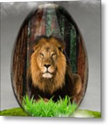 Lion Art Metal Print