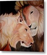 Lion's Love Metal Print