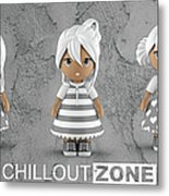 3 Little 3d Girls In Chilloutzone Metal Print