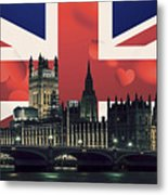 London Cityscape With Big Ben Metal Print