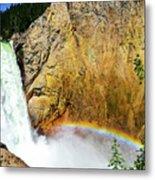 Lower Falls Rainbow Metal Print