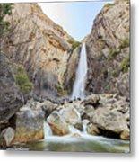 Lower Yosemite Fall In The Famous Yosemite Metal Print
