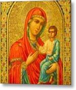 Madonna Enthroned Religious Art Metal Print