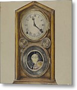 Mantel Clock Metal Print