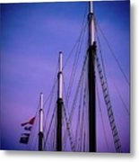 3 Masts In Halifax Metal Print