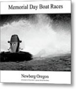 Memorial Day Boat Races Metal Print